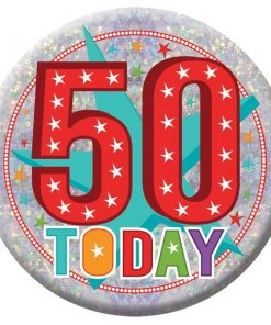 Happy 50th Birthday Badge