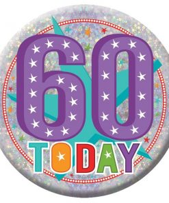 Happy 60th Birthday Badge