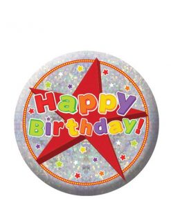 Happy Birthday Holographic Badge