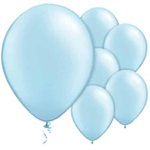 Light Blue Pearl Latex Balloons