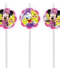 Minnie Mouse Party Drinking Straws