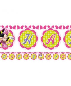 Minnie Mouse Party Happy Birthday Banner