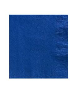 Royal Blue Party Paper Beverage Napkins