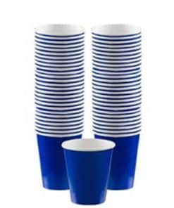 Royal Blue Party Paper Coffee Cups