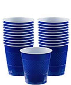 Royal Blue Party Plastic Cups