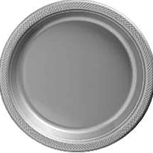 Silver Party Plastic Serving Plates