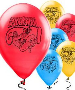 Spider-Man Party Printed Latex Balloons