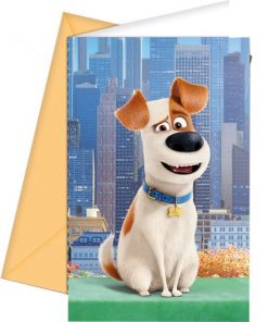 The Secret Life of Pets Party Invitation Cards