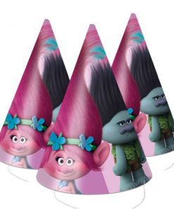 Trolls Party Cone Party Hats