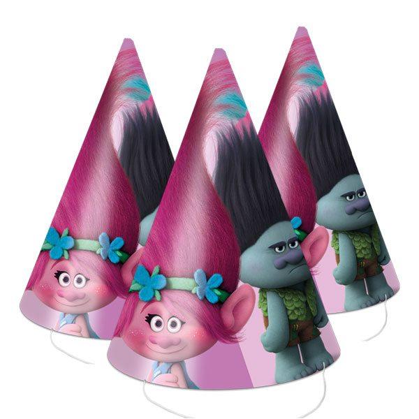 Buy Trolls Party Cone Hats Fun Supplies