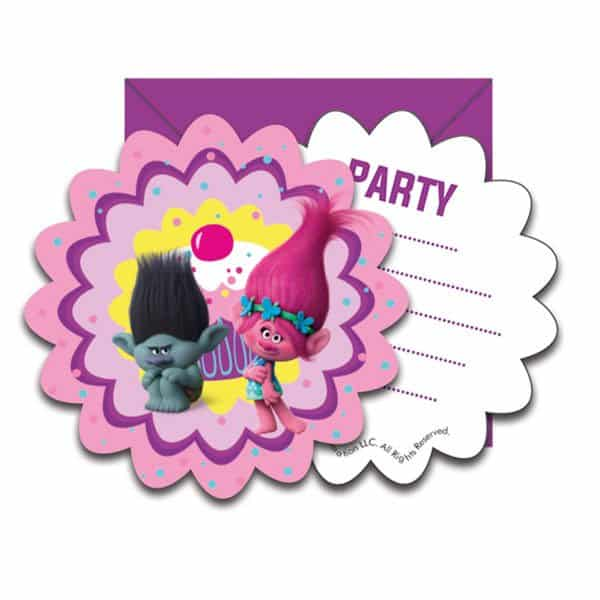 Trolls Party Party Invitation Cards
