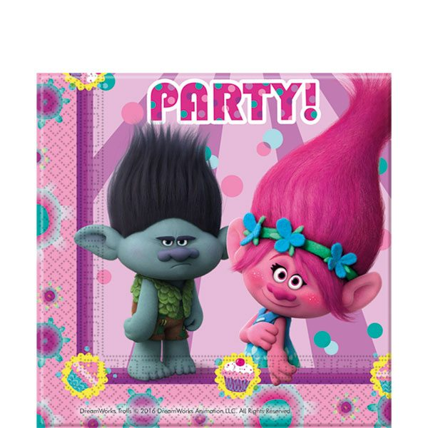 Trolls Party Paper Napkins