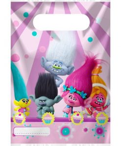 Trolls Party Party Plastic Loot Bags