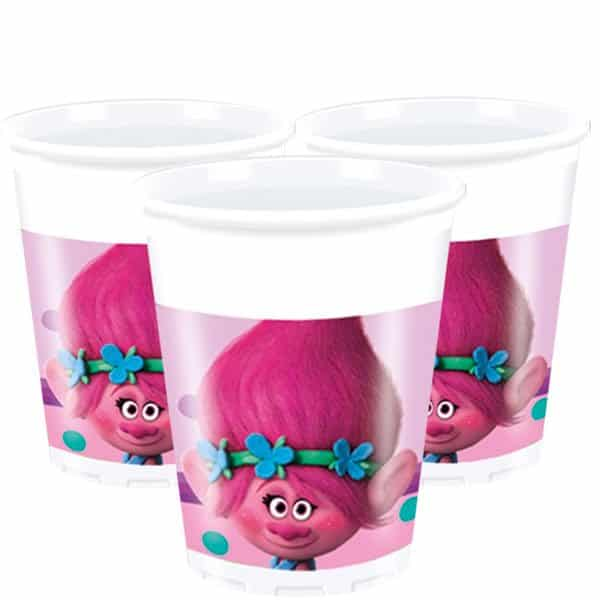 Trolls Party Plastic Cups