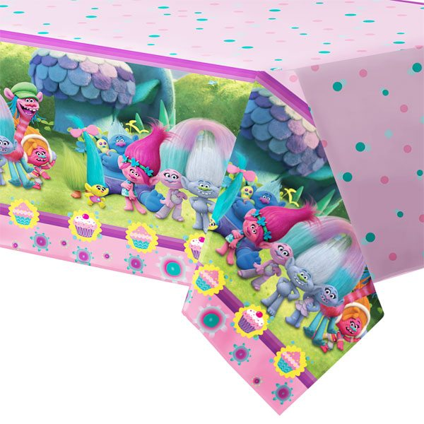 Trolls Party Plastic Tablecover