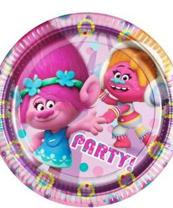 Trolls Themed Paper Party Plates