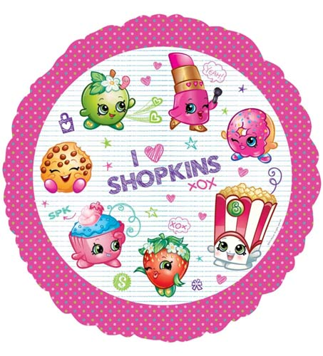 Shopkins Party Foil Balloon