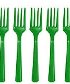 Green Plastic Forks