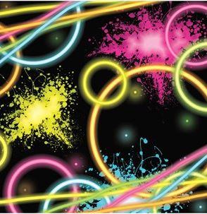 Glow Party Paper Napkins