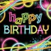 Glow Party Paper Happy Birthday Napkins