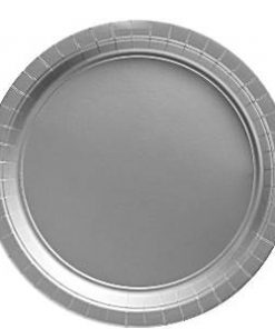 Silver Party Paper Dessert Plates