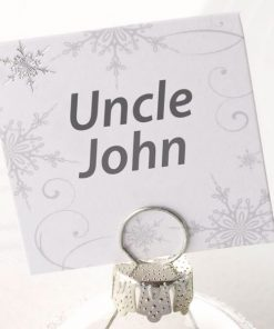 Christmas Snowflake Glitter Place Cards