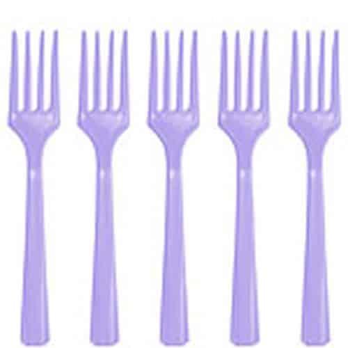 Lilac Plastic Forks