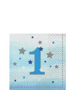 One Little Star Boy Party 1st Birthday Napkins