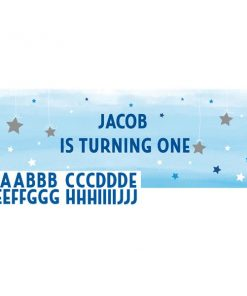 One Little Star Boy Party Giant Personalisable Banner