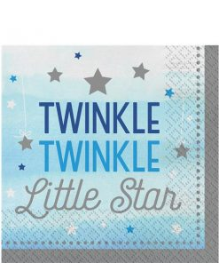 One Little Star Boy Party Paper Napkins