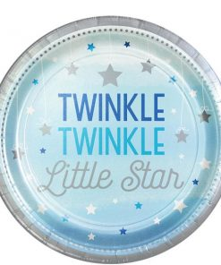 One Little Star Boy Party Paper Plates