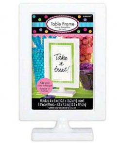 White Plastic Photo Frame
