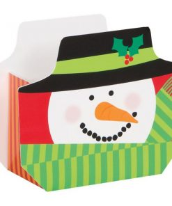 Snowman Swirl Christmas Party Favour Boxes