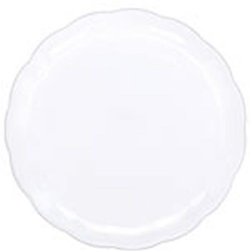 White Round Plastic Party Tray
