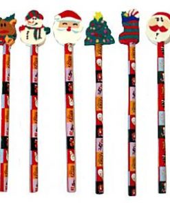Christmas Themed Pencil and Eraser