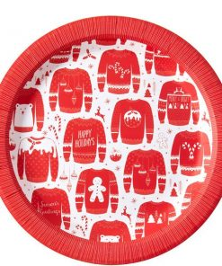 Cosy Christmas Jumper Party Paper Plates