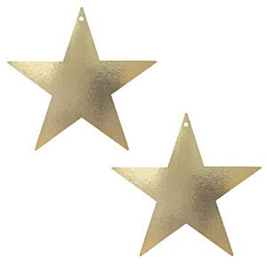 Gold Star Card Cutouts