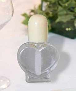 Heart Ivory Wedding Bubbles