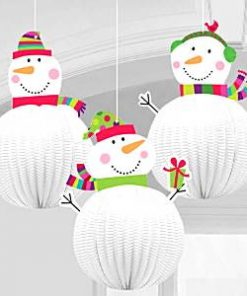 Snowman 3D Hanging Christmas Decorations