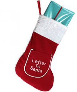 Christmas Letter To Santa Stocking