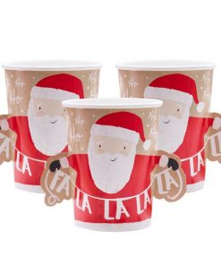 Santa and Friends Christmas 3D Paper Cups