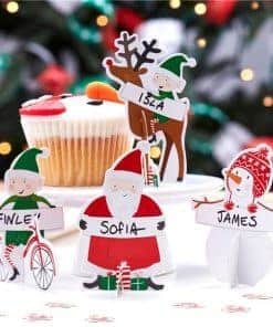 santa-and-friends-3d-place-cards