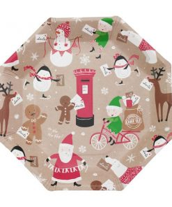 Santa & Friends Paper Plates