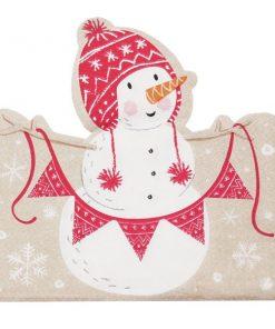 Santa and Friends Christmas Shaped Paper Napkins
