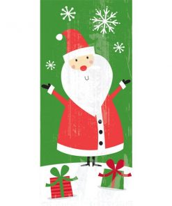 Christmas Santa Cellophane Bag
