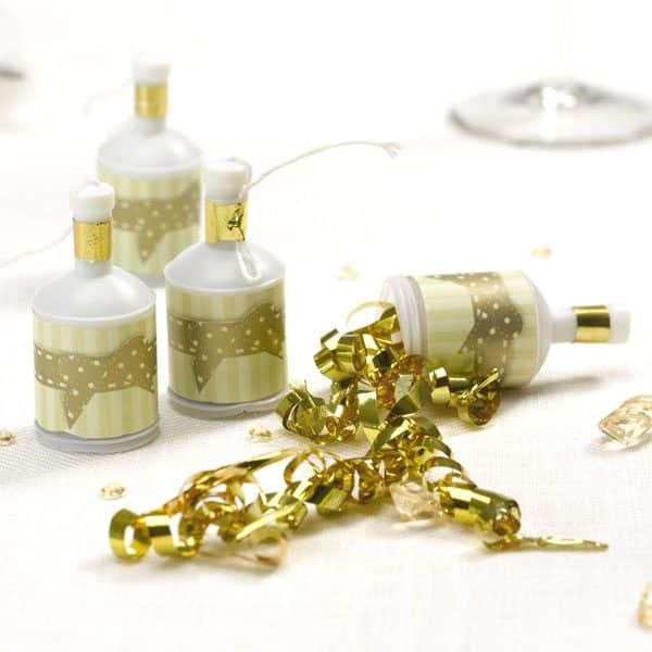 Ivory/Gold Party Poppers