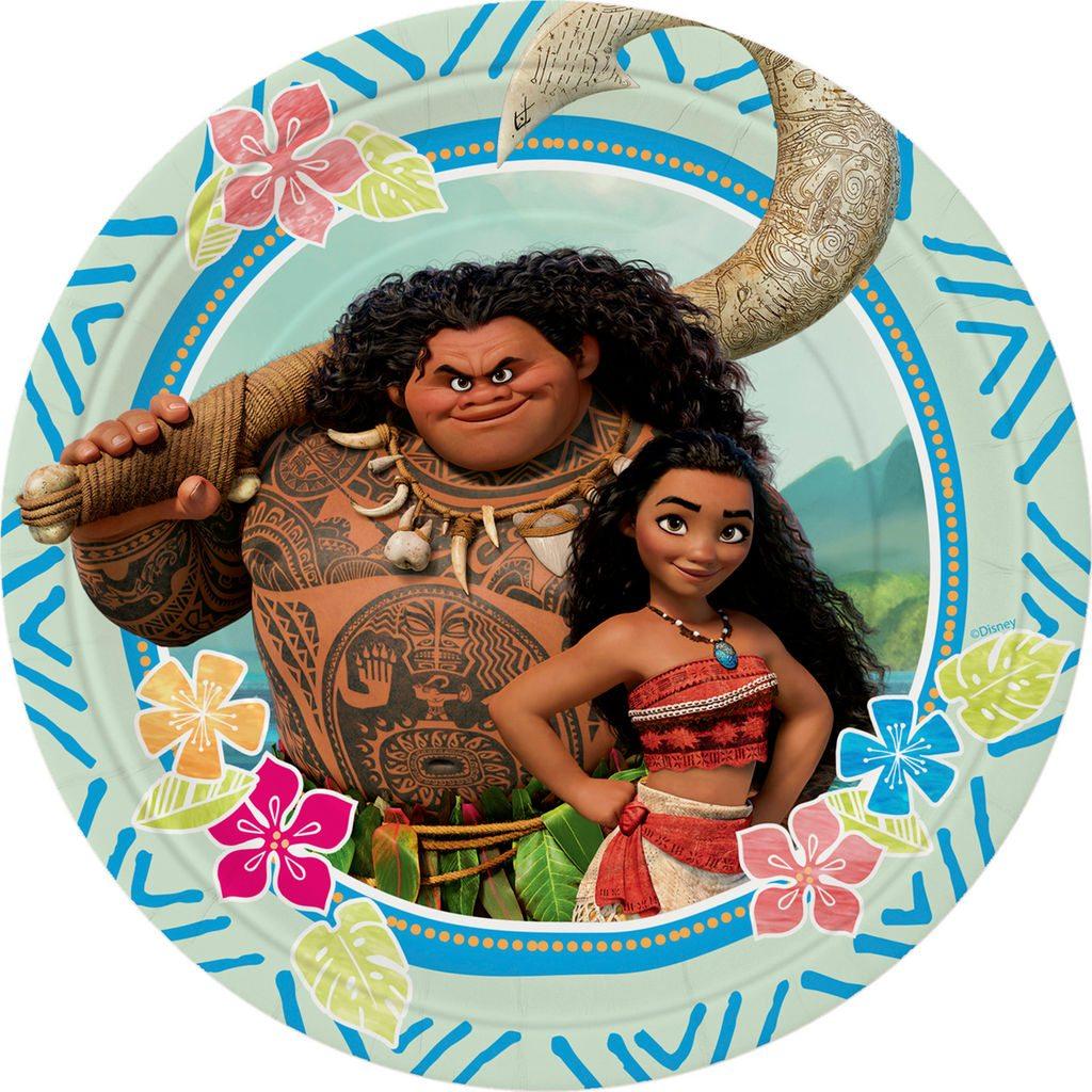 Disney Moana Party Paper Plates
