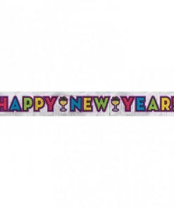 New Years Eve Party Glitter Banner