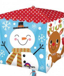 Christmas Snowman & Santa Cubez Balloon