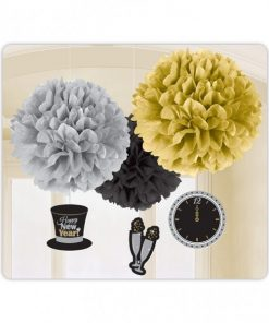 New Years Eve Party Pom Pom Decorations